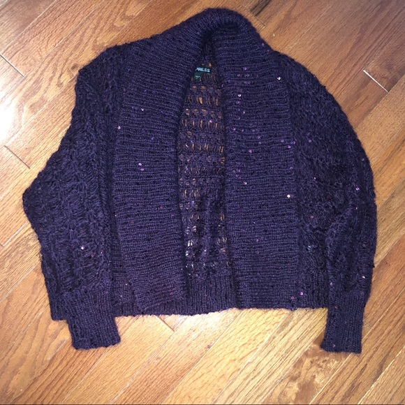 Express Sweaters - Adorable Purple Express Cardigan!